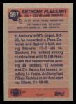 1991 Topps #597  Anthony Pleasant  Back Thumbnail
