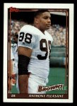 1991 Topps #597  Anthony Pleasant  Front Thumbnail