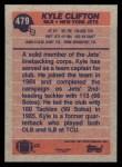 1991 Topps #479  Kyle Clifton  Back Thumbnail