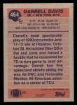 1991 Topps #464  Darrell Davis  Back Thumbnail
