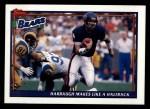 1991 Topps #630   -  Jim Harbaugh / Neal Anderson / Brad Muster / Mark Carrier / Richard Dent / Mike Singletary Bears Leaders Front Thumbnail