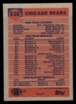 1991 Topps #630   -  Jim Harbaugh / Neal Anderson / Brad Muster / Mark Carrier / Richard Dent / Mike Singletary Bears Leaders Back Thumbnail