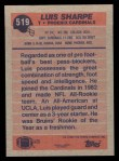 1991 Topps #519  Luis Sharpe  Back Thumbnail