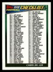 1991 Topps #658   Checklist 265-396 Front Thumbnail