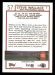 1992 Topps #57  Steve Wallace  Back Thumbnail