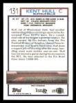1992 Topps #131  Kent Hull  Back Thumbnail