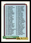 1992 Topps #218   Checklist 111-220 Front Thumbnail