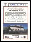1992 Topps #167  Jumbo Elliott  Back Thumbnail