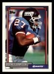 1992 Topps #210  Rodney Hampton  Front Thumbnail