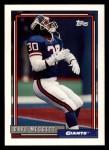 1992 Topps #330  Dave Meggett  Front Thumbnail