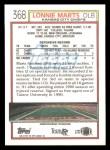 1992 Topps #368  Lonnie Marts  Back Thumbnail