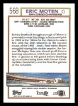 1992 Topps #568  Eric Moten  Back Thumbnail