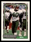 1992 Topps #610  James Hasty  Front Thumbnail