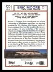 1992 Topps #551  Eric Moore  Back Thumbnail