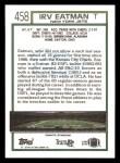 1992 Topps #458  Irv Eatman  Back Thumbnail