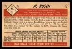1953 Bowman #8  Al Rosen  Back Thumbnail