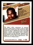 1993 Topps #102  Roy Foster  Back Thumbnail