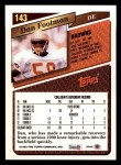 1993 Topps #143  Dan Footman  Back Thumbnail