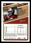 1993 Topps #18  Brent Jones  Back Thumbnail