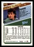 1993 Topps #113  Chris Jacke  Back Thumbnail