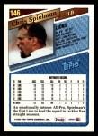 1993 Topps #146  Chris Spielman  Back Thumbnail