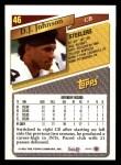 1993 Topps #46  D.J. Johnson  Back Thumbnail