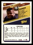 1993 Topps #93  George Thornton  Back Thumbnail