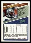 1993 Topps #133  Rufus Porter  Back Thumbnail