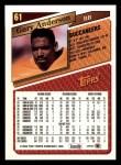 1993 Topps #61   -  Gary Anderson Record Breaker Back Thumbnail