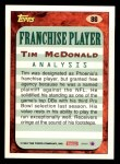 1993 Topps #86  Tim McDonald  Back Thumbnail