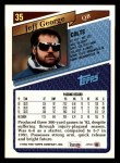 1993 Topps #35  Jeff George  Back Thumbnail