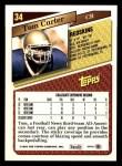 1993 Topps #34  Tom Carter  Back Thumbnail