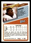 1993 Topps #195  Mike Croel  Back Thumbnail