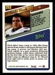 1993 Topps #252  Andy Heck  Back Thumbnail