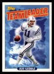 1993 Topps #266   -  Jeff George Colts Leaders Front Thumbnail