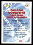 1993 Topps #173   -  Emmitt Smith Cowboys Leaders Back Thumbnail