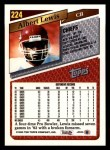1993 Topps #224  Albert Lewis  Back Thumbnail