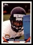 1993 Topps #189  Carl Simpson  Front Thumbnail