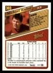 1993 Topps #303  Michael Walter  Back Thumbnail