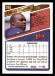 1993 Topps #392  Oliver Barnett  Back Thumbnail