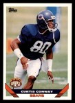 1993 Topps #408  Curtis Conway  Front Thumbnail