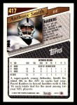 1993 Topps #417  Anthony Smith  Back Thumbnail