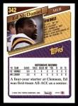1993 Topps #342  Ed McDaniel  Back Thumbnail
