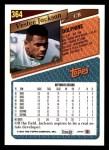 1993 Topps #364  Vestee Jackson  Back Thumbnail