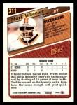 1993 Topps #311  Mark Wheeler  Back Thumbnail
