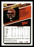 1993 Topps #386  Mike Brim  Back Thumbnail