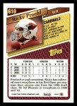 1993 Topps #610  Ricky Proehl  Back Thumbnail
