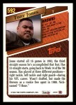 1993 Topps #592  Tony Jones  Back Thumbnail
