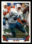 1993 Topps #515  Lorenzo White  Front Thumbnail