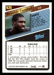 1993 Topps #635  Renaldo Turnbull  Back Thumbnail